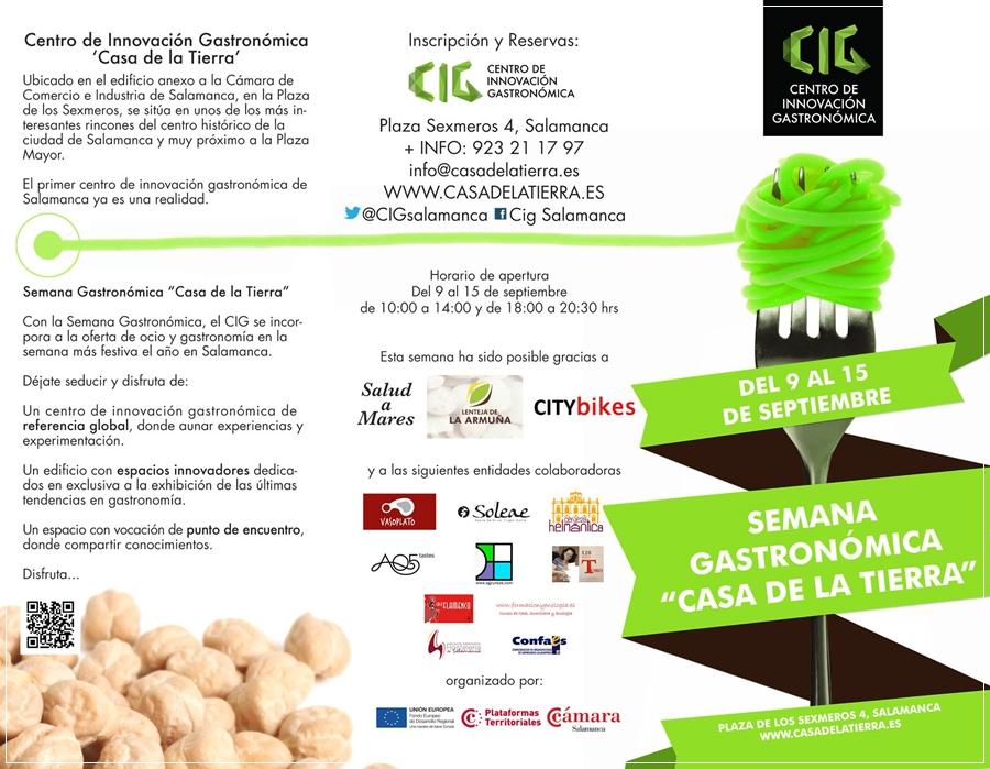 """Soleae colabora con el Centro de Innovación Gastronómica """"Casa de la Tierra"""" en su programación de actividades conincidiendo con las ferias y fiestas de Salamanca."""