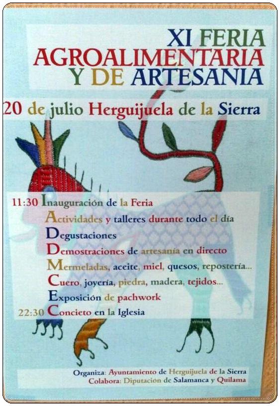 XI FERIA AGROALIMENTARIA Y DE ARTESANIA EN HERGUIJUELA DE LA SIERRA